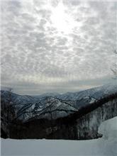 雪山で見た変な雲。