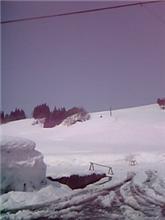 今日の雪山晴れです♪