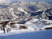 初滑り苗場スキー