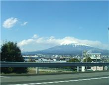 昨日の富士市から見た富士山