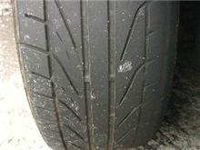 あれ? タイヤ、溝が・・・・・