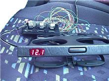 「デジタル電圧計内蔵カップホルダー」の製作