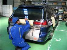 盗難抑制・ガラスエッチング(車体番号刻印)