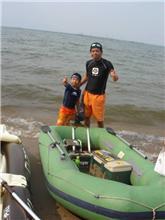 琵琶湖初泳ぎ。