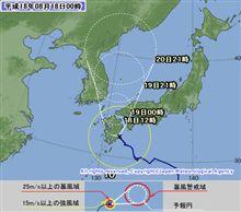 台風10号とオフミ(ToT)