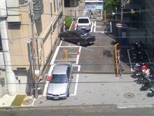 ありえない駐車の仕方