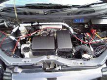 洗車&エアコン配管の断熱