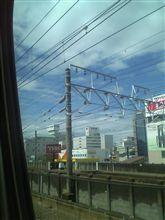 現在、静岡駅付近を通過中です。