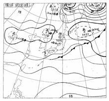 手書きの天気図