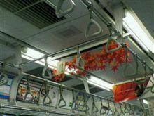 電車の中でもみじ狩り??