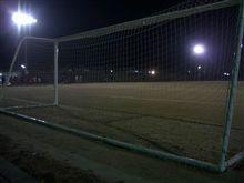 サッカーの練習前
