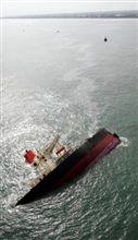 鹿島灘で座礁事故