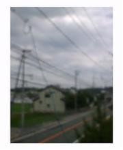 曇りだけど暑い