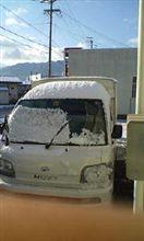 長野でも初雪が。