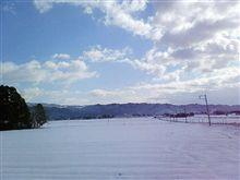 かみさんの実家はこんな積雪です。