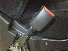 061231 助手席パワーシート化・・・マニュアルシート用インナーベルトLH確認・・・