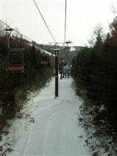 スキー場に到着