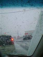 雪降りな水曜の朝でつ~♪
