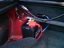バッテリー固定、例のブツ取り付けw