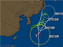 台風接近中・・・