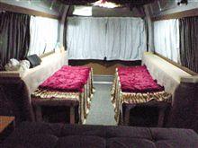 二の字シート・・・2段ベッド・・・カート2台収納・・・大作戦②