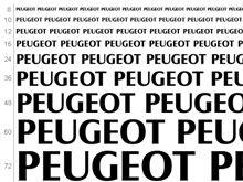 PEUGEOT font