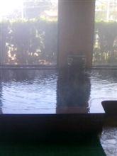 朝から温泉