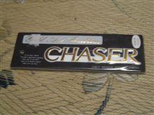CHASER チェイサーのエンブレム ホワイト