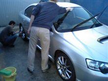 みんなで洗車中♪