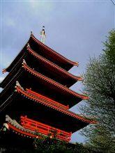 地域を見守る五重の塔