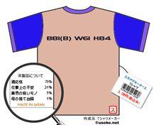B81(B) W64 H84なTシャツ