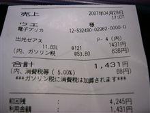 ガソリン値上げ情報!