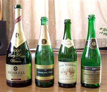 レースの表彰台で使われるシャンパン