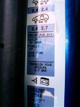 空気圧とロードインデックス