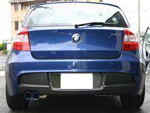 BMW E87 カーボンリアディフューザー