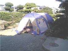 我が家でキャンプ