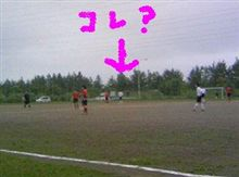 サッカーの試合。
