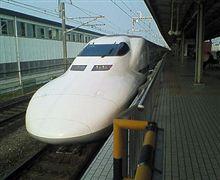 朝から新幹線…