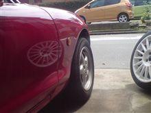タイヤの慣性。
