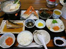 礼文島の夕食