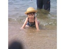 もえさん初海水浴(^O^)
