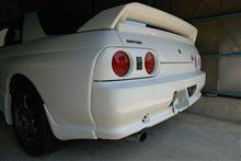 天気のいい日は車庫を開けてGT-Rと再会。