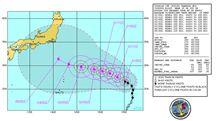 気象情報台風第9号(FITOW:フィートウ)発生