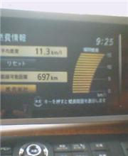 今日の燃費 11.3km!
