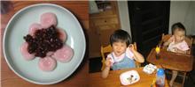 今日のデザート(白玉)