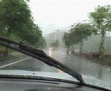 すごい雨(><)