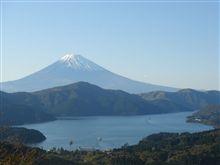 芦ノ湖と雪の富士山!
