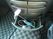 iPod接続ケーブル取り付け。