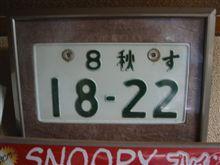 ホンダN360のナンバープレート