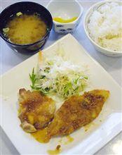 「チキンソテーおろしソース&白身魚のフライ」